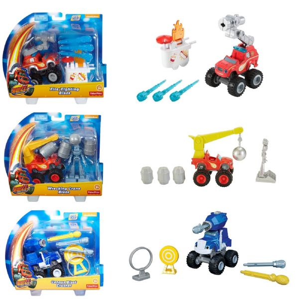 Fisher-Price Fire Fighter Blaze, Cannon Blast Crusher or Wrecking Crane Blaze